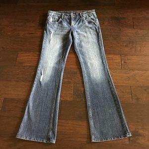 Chip & Pepper Laguna Beach Flare Distressed Jeans